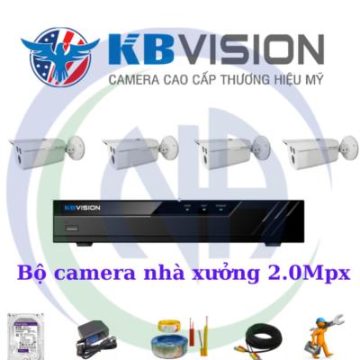 Tron bộ camera kbvision nhà xưởng